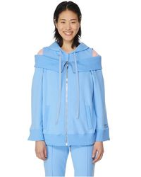 Alberta Ferretti Sweat à capuche en coton - Bleu