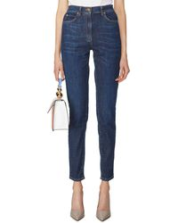 Versace Jeans With Faded Details And Golden Ornaments - Blue