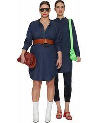 UNIVERSAL STANDARD Hannah Denim Shirt Dress - Blue