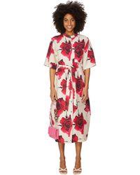 Paul Smith Linen And Viscose-blend Maxi Dress - Pink