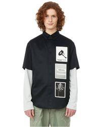 MISBHV Chemise col boutonné - Noir