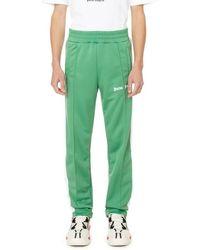 Palm Angels Pantalon de jogging à bande contrastante - Vert