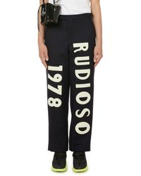 Bode Straight-cut Printed Trousers - Blue