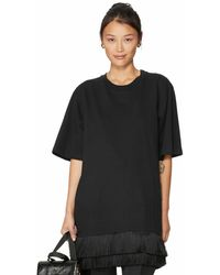 Mother Of Pearl Mackenzie Fringed Cotton T-shirt Dress - Black