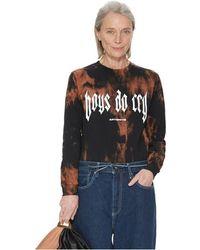 Antidote T-shirt à manches longues Boys Do Cry - Noir