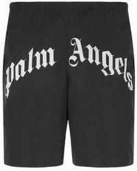 Palm Angels Short de bain logotypé - Noir