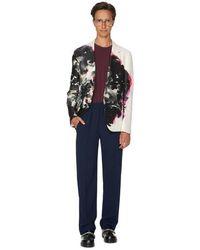 Alexander McQueen Blazer Ink Floral en coton - Neutre