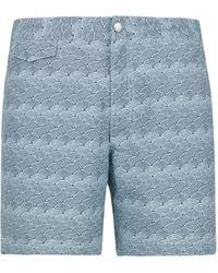 Sunspel Upcycled Marine Plastic Swim Shorts - Blue