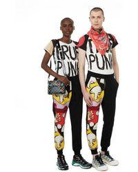Vivienne Westwood Pantalon de jogging imprimé en coton - Noir