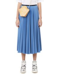 Lacoste Pleated Polyester Skirt - Blue