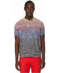 Missoni Polo à rayures - Multicolore