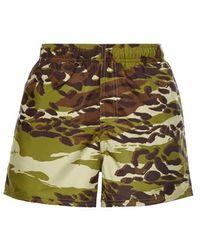 Givenchy Short de bain imprimé camouflage militaire - Vert