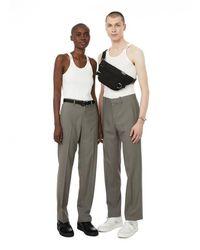 Dion Lee Pantalon droit à taille haute - Gris