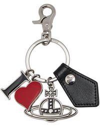 Vivienne Westwood Le porte-clés Rodeo I Love - Noir