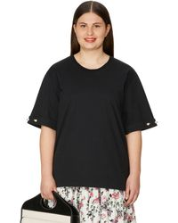 Mother Of Pearl Charlie Organic Cotton T-shirt - Black