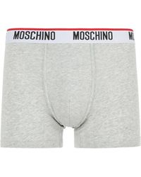 Moschino Pack Of Two Cotton Jersey Boxers - Grey