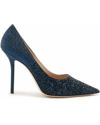 Jimmy Choo Love 100 Court Shoes - Blue