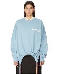 Ambush Sweatshirt au détail cordon coulissant - Bleu