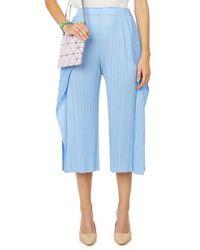 Issey Miyake Pantalon plissé - Bleu