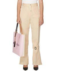 Victoria Beckham Pantalon en laine vierge - Neutre