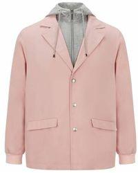Koche Double veste en laine et coton - Rose