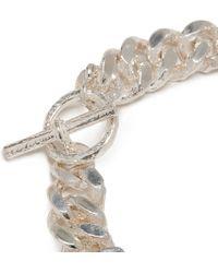 Pearls Before Swine Silver Bracelet - Metallic
