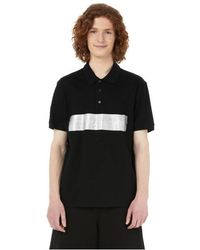 Givenchy Polo avec bande latex en coton - Noir