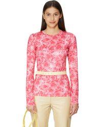 Saks Potts Saya Pink Print Blouse