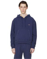 Phipps Sweatshirt fleece en coton organique - Bleu