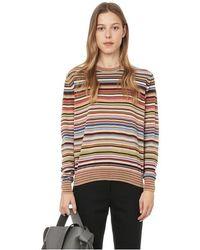 Paul Smith Pull Signature Stripe en laine - Multicolore