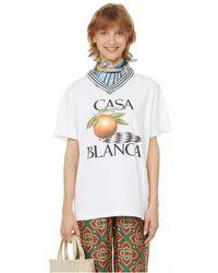 CASABLANCA T-shirt Racing Club - Blanc