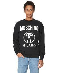 Moschino Sweatshirt Double Question Mark en coton - Noir