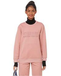 Alberta Ferretti Sweatshirt en coton - Rose