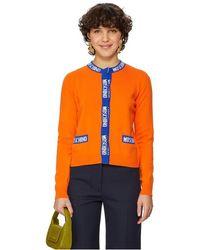 Moschino Cardigan en laine vierge et cachemire mélangés - Orange