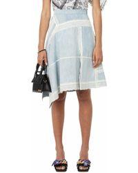 Koche Asymmetric Cotton Dress - Blue