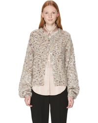 Custommade• Fie Mohair And Wool Cardigan - Grey
