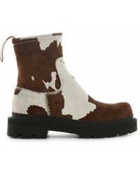 CAMPERLAB Eki Leather Ankle Boots - Brown