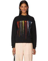 Givenchy Sweat-shirt brodé en coton - Noir