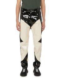 GmbH Pantalon bicolore en vinyle - Multicolore