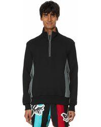 GR10K Cotton Knit Sweatshirt - Black