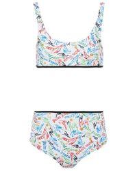 Palm Angels Haut de maillot de bain Scribble x Missoni - Blanc