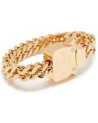 1017 ALYX 9SM Bracelet chaîne Cubix - Métallisé
