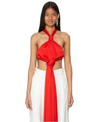 Givenchy Haut dos-nu en crêpe drapé - Rouge
