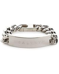 1017 ALYX 9SM Bracelet ID - Métallisé