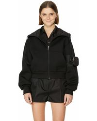Prada Sporty Technical Cotton Sweatshirt - Black