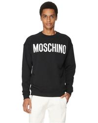 Moschino Sweat-shirt Logo en coton - Noir