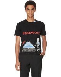 Maison Mihara Yasuhiro Password Cotton T-shirt - Black