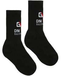 Balenciaga Gym Cotton Blend Socks - Black