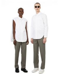 Dion Lee Shirt With Detachable Sleeves - White
