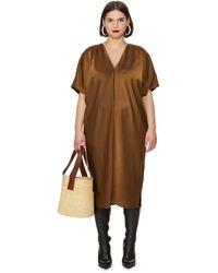 UNIVERSAL STANDARD Loose Midi Dress - Brown